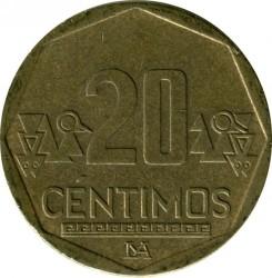 Pièce > 20céntimos, 2001-2018 - Pérou  - obverse