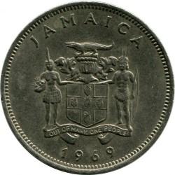 Mynt > 20cents, 1969-1990 - Jamaica  - reverse