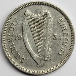 Münze > 3Pence, 1934 - Irland   - reverse