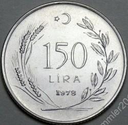 Coin > 150lira, 1978 - Turkey  (FAO) - reverse