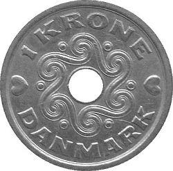 Moneda > 1corona, 1992-2018 - Dinamarca  - obverse