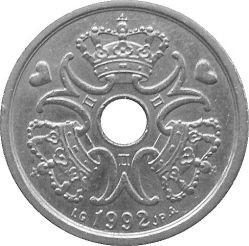 Moneda > 1corona, 1992-2018 - Dinamarca  - reverse