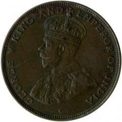 Munt > 1cent, 1919-1926 - Hong Kong  - obverse