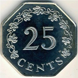 Moneta > 25centów, 1976-1981 - Malta  - obverse