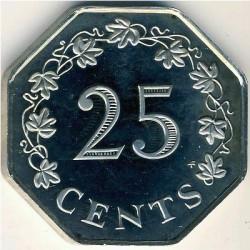 Moneta > 25centów, 1976-1981 - Malta  - reverse