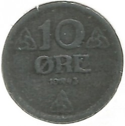 Moneta > 10erių, 1941-1945 - Norvegija  - reverse