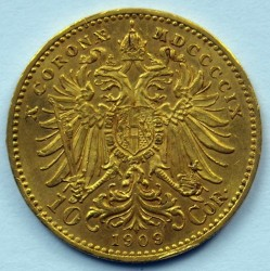Moneda > 10kronen, 1909 - Àustria  (Sense inscripció sota del bust) - reverse