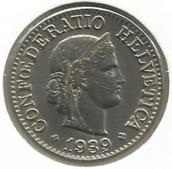 錢幣 > 10拉彭, 1932-1939 - 瑞士  - obverse