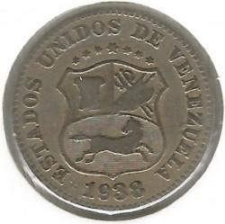 Coin > 5céntimos, 1896-1938 - Venezuela  - obverse