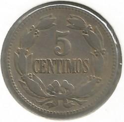 Coin > 5céntimos, 1896-1938 - Venezuela  - reverse