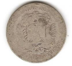 Moneta > 5bolivarai, 1879-1889 - Venesuela  - obverse