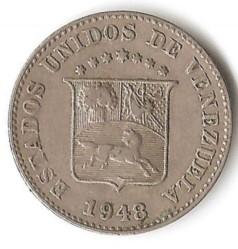 سکه > 5سنتیمو, 1945-1948 - ونزوئلا  - obverse