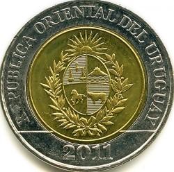 Moneda > 10pesos, 2011-2015 - Uruguay  - obverse