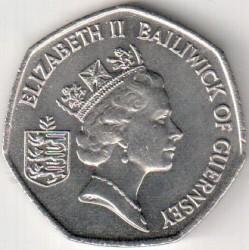 Moneta > 50pensów, 1997 - Guernsey  (Średnica 27.3mm, waga 8 g) - obverse