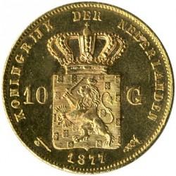 Munt > 10gulden, 1876-1889 - Nederland  - reverse