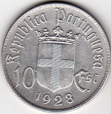 Португалия 10 эскудо 1928 коллекционеры саратов