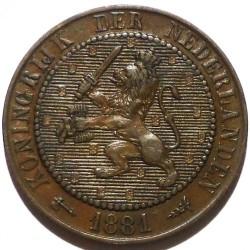 Monēta > 2½centi, 1877-1898 - Nīderlande  - obverse