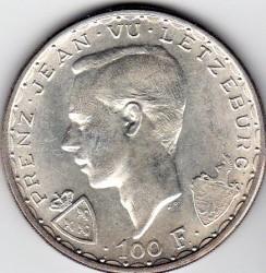Moneta > 100franków, 1946 - Luksemburg  (600 rocznica śmierci - Jan Luksemburski) - obverse