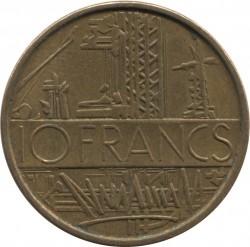 Moneda > 10francos, 1974 - Francia  - reverse