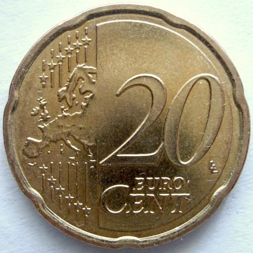 20 Eurocent 2008 2018 österreich Münzen Wert Ucoinnet