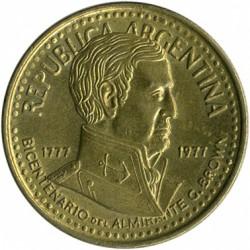Moneda > 5pesos, 1977 - Argentina  (200 Aniversario - Nacimiento de Guillermo Brown) - obverse
