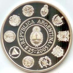 Moneda > 25pesos, 2005 - Argentina  (Teatro Colón) - obverse