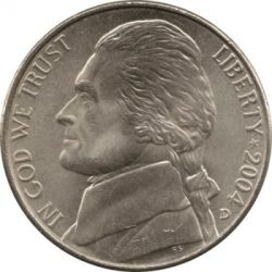 Monēta > 5 centi, 2004 - ASV  (Bicentenary of Lewis and Clark Expedition - Lousiana Purchase) - obverse