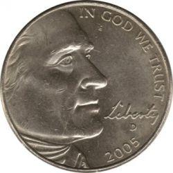 سکه > 5سنت, 2005 - ایالات متحده آمریکا  (Bicentenary of Lewis and Clark Expedition - Bison) - obverse
