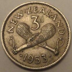 Moneta > 3pensy, 1953-1956 - Nowa Zelandia  - obverse