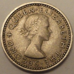 Moneta > 3pensy, 1953-1956 - Nowa Zelandia  - reverse