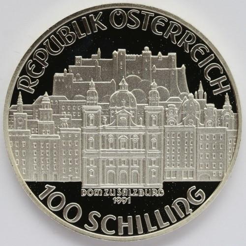 100 Schilling 1991 Wolfgang Amadeus Mozart österreich Münzen