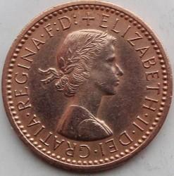 Moeda > 1farthing, 1954-1956 - Reino Unido  - obverse
