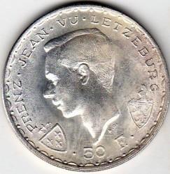 Moneta > 50franków, 1946 - Luksemburg  (600 rocznica śmierci - Jan Luksemburski) - obverse