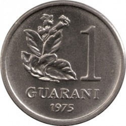 Moneta > 1gvaranis, 1975-1976 - Paragvajus  - reverse