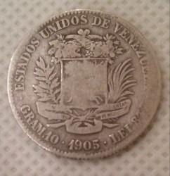 Монета > 2боливара, 1879-1936 - Венецуела  - obverse