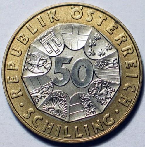 50 Schilling 1999 Johann Strauss österreich Münzen Wert Ucoinnet