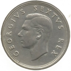 Coin > 2½ shillings, 1951-1952 - South Africa  - obverse