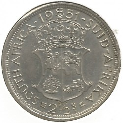 Coin > 2½ shillings, 1951-1952 - South Africa  - reverse