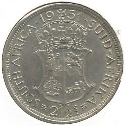 Монета > 2½шиллинга, 1951-1952 - ЮАР  - reverse