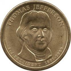 Монета > 1долар, 2007 - США  (Президент США - Томас Джефферсон (1801-1809)) - obverse