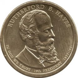 Moneta > 1 doleris, 2011 - JAV  (President of the USA - Rutherford B. Hayes (1877-1881)) - obverse