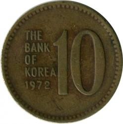 Munt > 10won, 1971-1982 - Zuid Korea  - obverse