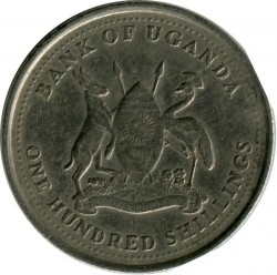 Монета > 100шилінгiв, 1998-2008 - Уганда  - reverse