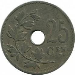 Munt > 25centimes, 1908 - Belgie  (Legend in Dutch - 'BELGIË') - reverse
