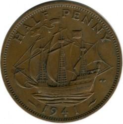 錢幣 > ½便士, 1941 - 英國  - obverse