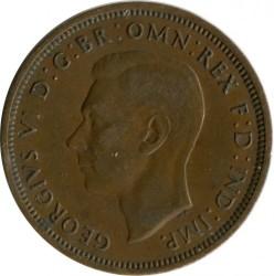 錢幣 > ½便士, 1941 - 英國  - reverse