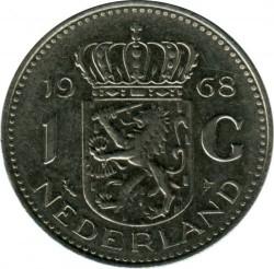 Монета > 1гульден, 1968 - Нидерланды  - obverse