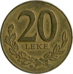 Moneda > 20lekë, 1996-2000 - Albània  - obverse