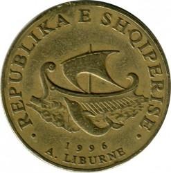 Moneda > 20lekë, 1996-2000 - Albània  - reverse