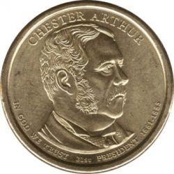 سکه > 1دلار, 2012 - ایالات متحده آمریکا  (President of the USA - Chester A. Arthur (1881–1885)) - obverse